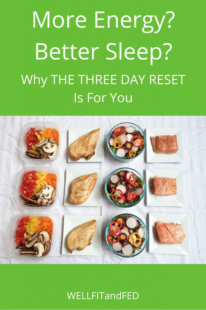 More Energy, Better Sleep? Why The THREE DAY RESET is for you.