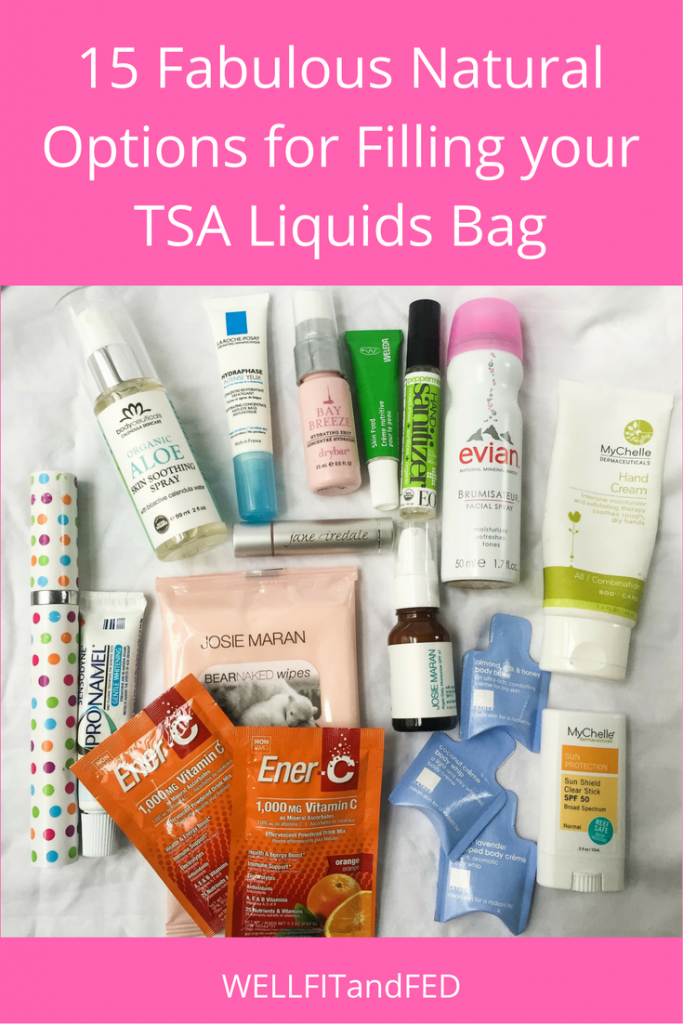 15 Fabulous Natural Options for Filling your TSA Liquids Bag