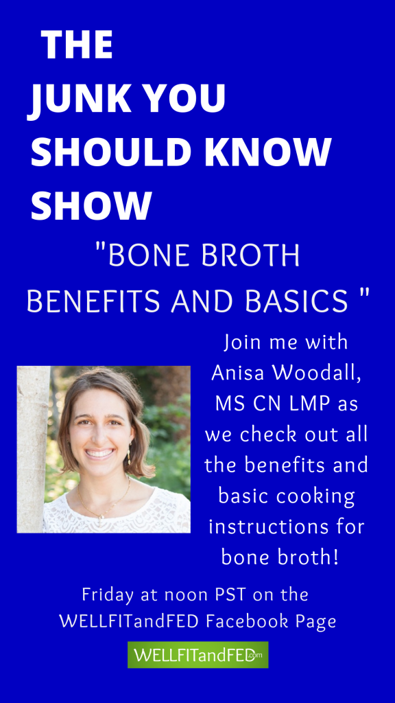 Learn more about the benefits of bone broth on this episode of The Junk You Should Know Show!