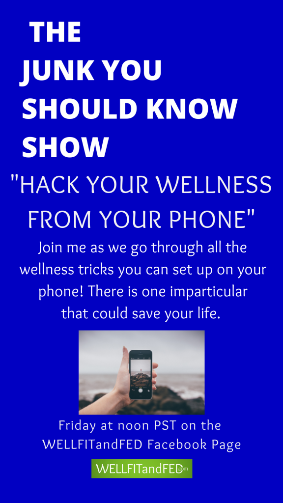 Make your phone your next health and wellness tool. Featured on The Junk You Should Know Show