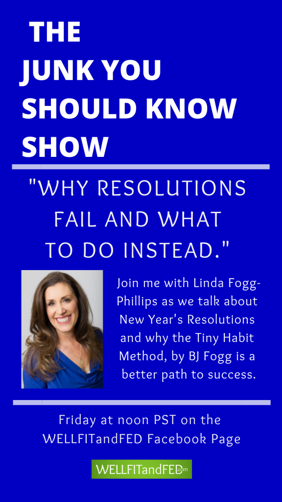 Why do resolutions fail year after year? Find out more on The Junk You Should Know Show #resolutions #tinyhabits